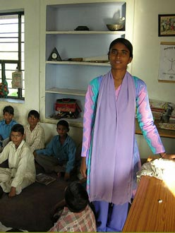 A teacher at one of the charity's schools